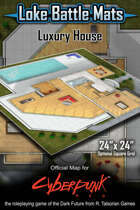 "Luxury House 24"" x 24"" RPG Encounter Map"