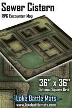 Sewer Cistern 36 x 36 RPG Encounter Map