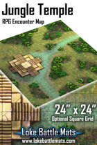 "Jungle Temple 24"" x 24"" RPG Encounter Map"