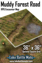 Muddy Forest Road 36 x 36 RPG Encounter Map