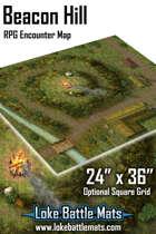 "Beacon Hill 24"" x 36"" RPG Encounter Map"