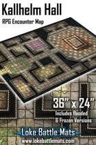 "Kallhelm Hall 36"" x 24"" RPG Encounter Map"