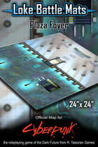 "Plaza Foyer 24"" x 24"" Cyberpunk RED Battle Map"