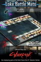 "Motel 24"" x 17"" Cyberpunk RED Battle Map"