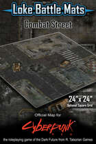 """Combat Street 24"""" x 24"""" Cyberpunk RED Battle Map"""