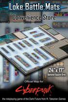 "Convenience Store 24"" x 17"" Cyberpunk RED Battle Map"