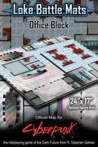 """Office Block 24"""" x 17"""" Cyberpunk RED Battle Map"""