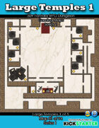 50+ Fantasy RPG Maps 1: (31 of 95) Large Temples 1