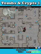 50+ Fantasy RPG Maps 1: (36 of 95) Tombs & Crypts 1