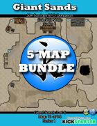 50+ Fantasy RPG Maps 1 Bundle 10: Giant Sands Bundle [BUNDLE]