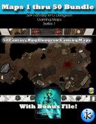 50+ Fantasy RPG Maps 1 Bundle 02: Maps  51 thru 95 [BUNDLE]
