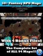 50+ Fantasy RPG Maps 1 Bundle 01:  All 94 Maps [BUNDLE]