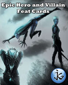 Epic Hero and Villain Feat Cards 1: The Complete Set [BUNDLE]