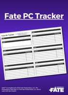 Fate PC Tracker