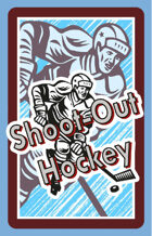 Shoot-Out Hockey Fast Action Deck PREMIUM STOCK Color Backs