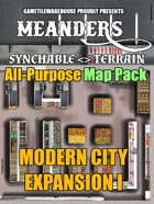 Meanders All-Purpose Map Pack - MODERN CITY EXPANSION I
