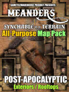 Meanders All-Purpose Map Pack - POST-APOCALYPTIC CITY EXTERIORS