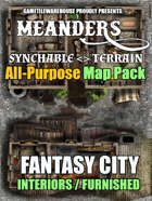 Meanders All-Purpose Map Pack - FANTASY CITY INTERIORS