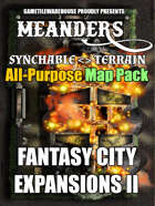 Meanders All-Purpose Map Pack - FANTASY CITY EXPANSION II
