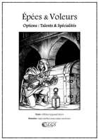 Options : Talents & Spécialités (Épées & Voleurs)