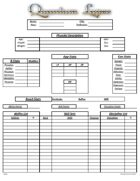 Quantum Lapse Character Sheet