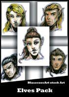 BlaszczecArt Stock Art: Elves Portraits Pack