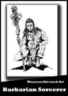 BlaszczecArt Stock Art: Barbarian Sorcerer