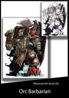 BlaszczecArt Stock Art: Orc Barbarian