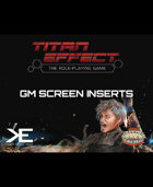 Titan Effect RPG: GM's Screen Inserts