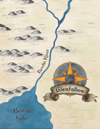 Regional Map of Glenfallow Game Master's PNG For VTT