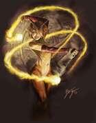 Satyr Spinning Fire - RPG Stock Art