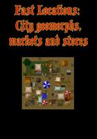 Fast Locations: City Geomorphs, markets and stores