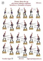 The 4-th linear regiment. France 1809-1811 The 2nd battalion. Grenadier company