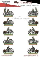 Motorcyclists. The communications platoon. The headquarters of the infantry division. The Wehrmacht 1940-1941 g