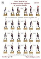 New!! 18-th linear infantry regiment. 1st battalion. Fusiliers (1st and 2nd company)