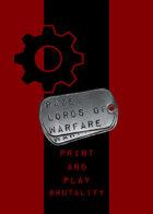 RAZE: Lords of Warfare P&P -- Brutality Starter Deck