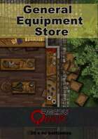 ReadyQuest Maps - Fantasy: Town General Equipment store 20 x 40