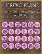 Heroic Icons: Pink & Purple
