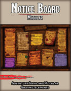 Modular Town Notice Board - STOCK Adventure and Graphic Elements