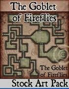 Elven Tower - Goblet of Fireflies | 25x25 Stock Battlemap