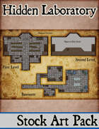 Elven Tower - Hidden Laboratory | 27x19 Stock Battlemap