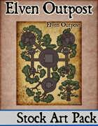 Elven Tower - Elven Outpost | Stock Battlemap
