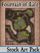 Elven Tower - Fountain of Life | 23x28 Stock Battlemap