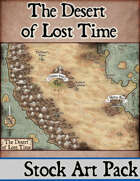 The Desert of Lost Time - Stock Art Map