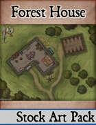 Elven Tower - Forest House | 26x18 Stock Battlemap