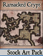 Elven Tower - Ransacked Crypt | 24x20 Stock Battlemap