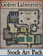 Elven Tower - Golem Laboratory | 44x40 Stock Battlemap