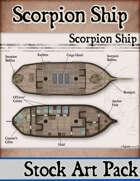 Scorpion Ship - Stock Art Map
