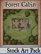 Elven Tower - Forest Cabin | 15x15 Stock Battlemap