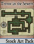 Elven Tower - Terror in the Sewers   38x31 Stock Battlemap